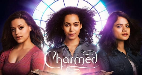 Charmed Instagram Captions, cover image of the new Charmed series featuring the three sisters and the word \Charmed\ in white text, pop culture, tv