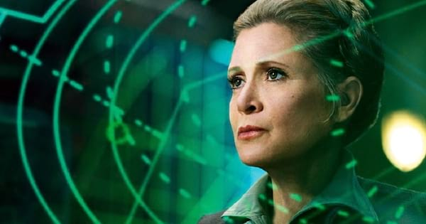Carrie Fisher Quotes Instagram Captions, closeup of Carrie Fisher as General Organa