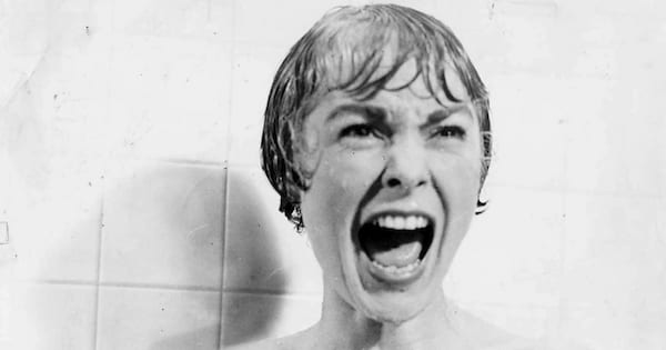 Iconic shower scene from Psycho