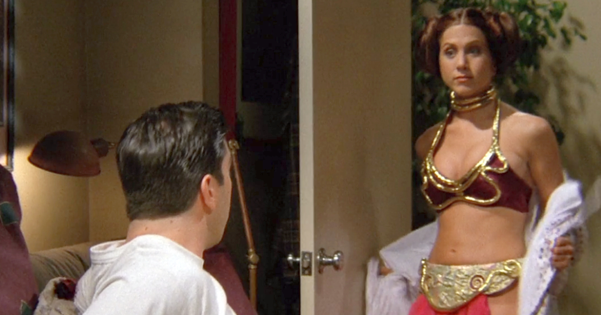 Rachel dressed up as Princess Leia to role play with Ross on an episode of Friends