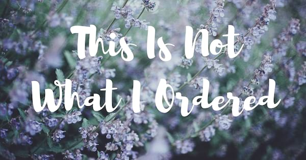 Chronic Illness Podcasts, background of purple flowers with white text that says \This Is Not What I Ordered\, health