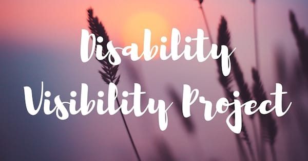 Chronic Illness Podcast, purple background with sunset and the words \Disability Visibility Project\, health