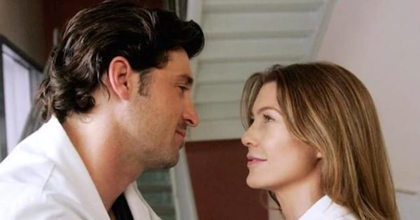 Derek Shepherd and Meredith Grey about to kiss, ranking tv