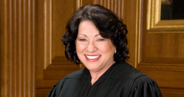 Sonia Sotomayer Justice smiling in robe, ranking