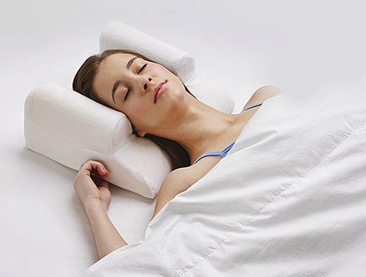 Woman sleeping on a YourFacePillow