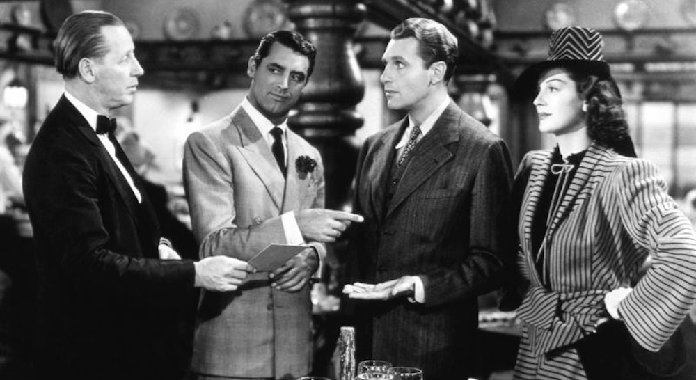 movies, celebs, his girl friday, 1940, Cary Grant, ralph bellamy, rosalind russell