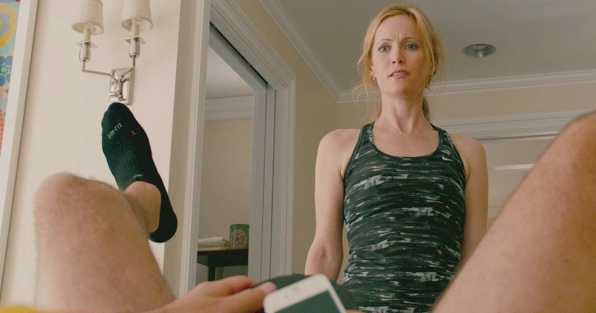 Leslie Mann staring at Paul Rudd's butt in This Is 40 (2012)