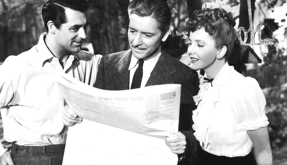 movies, celebs, the talk of the town, 1942, Cary Grant, ronald colman, jean arthur