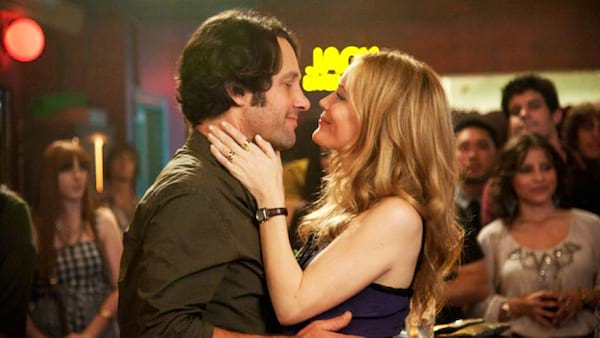 Leslie Mann and Paul Rudd embracing in This Is 40 (2012)