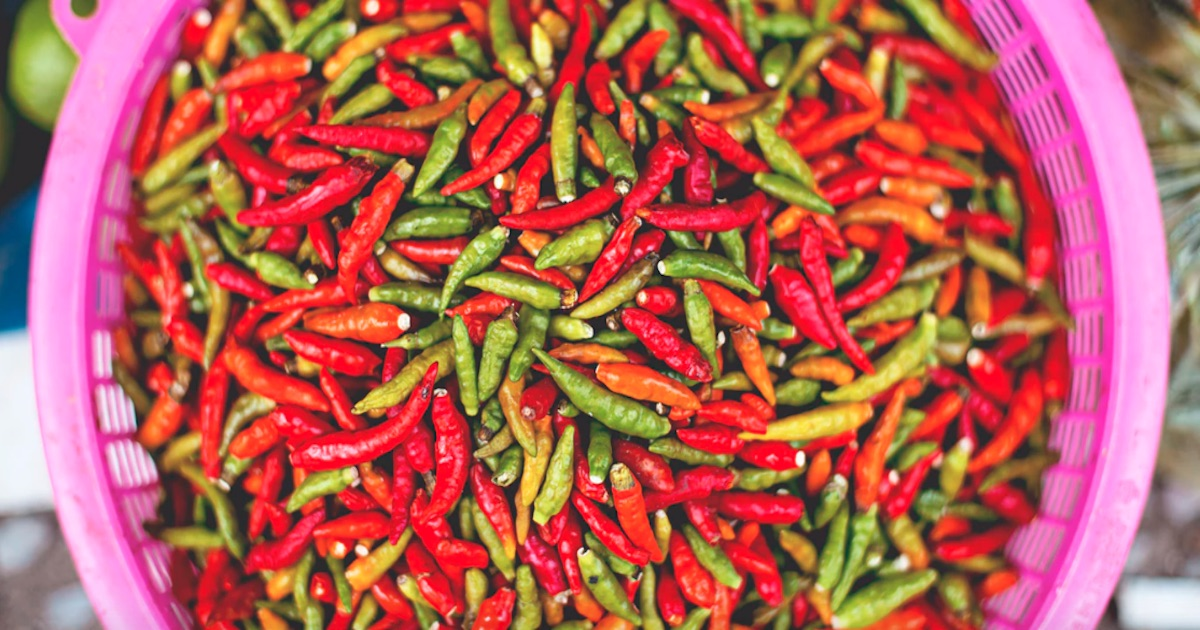pile of hot peppers, food ranking