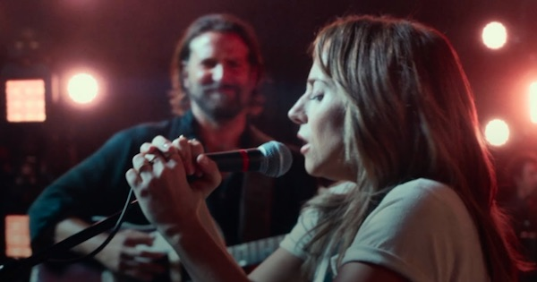 lady gaga and bradley cooper on stage, movies ranking