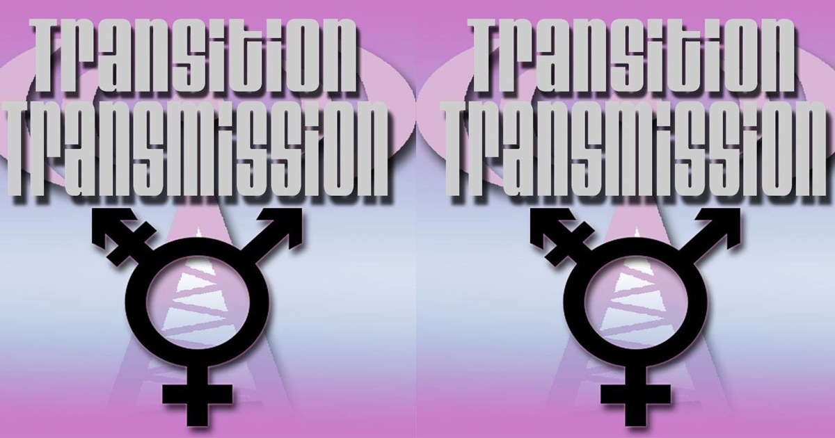 The Best LGBT Podcasts, the Transition Transmission podcast logo, culture