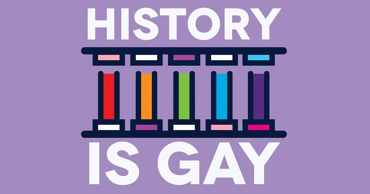 The Best LGBT Podcast, the History is Gay podcast logo, culture