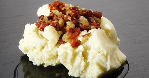 mashed potato with bacon, thanksgiving