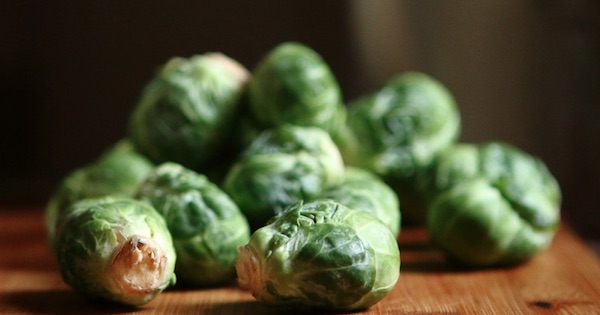 brussels sprouts on table, thanksgiving