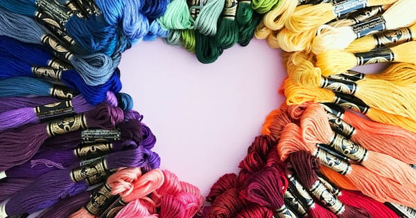 What is craftivism?, embroidery floss shaped into a heart