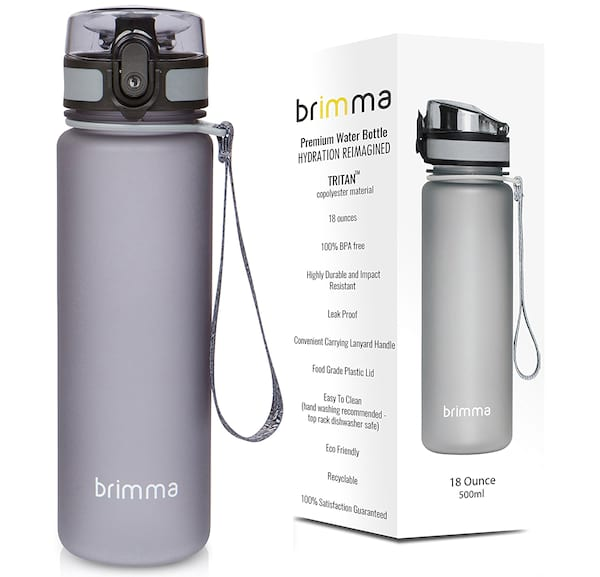 Product shot of Brimma premium sports water bottle