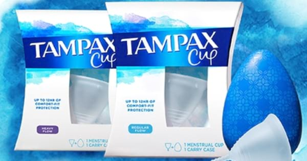 Product shot of the new Tampax Cup