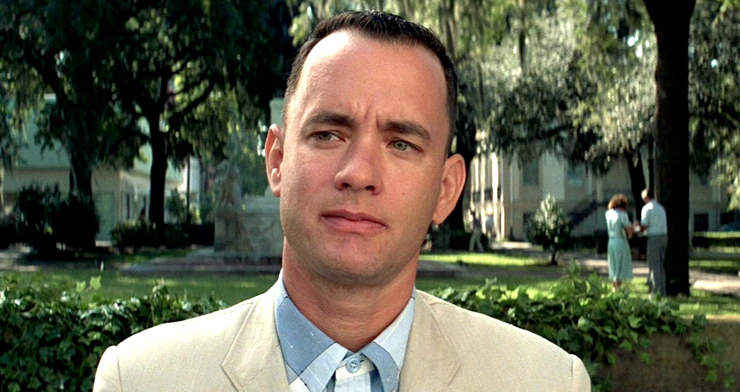forrest gump, tom hanks, history, usa, america, movies, classic, man, thinking, think, nature, outside