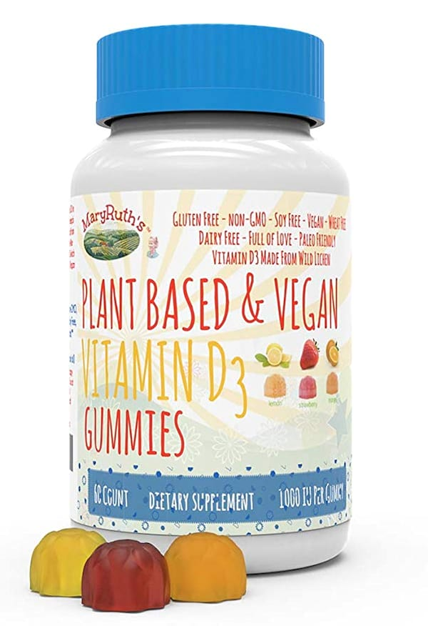 Product shot of MaryRuth's plant-based and vegan vitamin D3 gummies