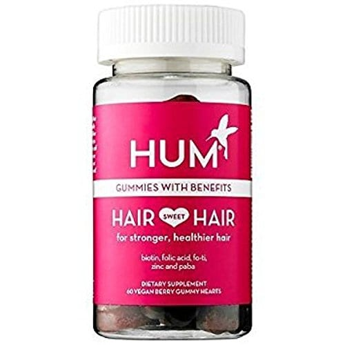 Product shot of Hum Nutrition's Hair Sweet Hair vegan gummy vitamins from Amazon