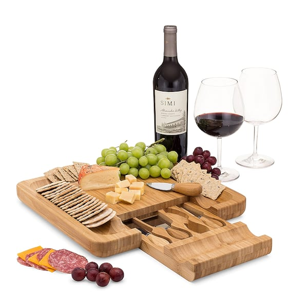 Bamboo cheese board set from Amazon