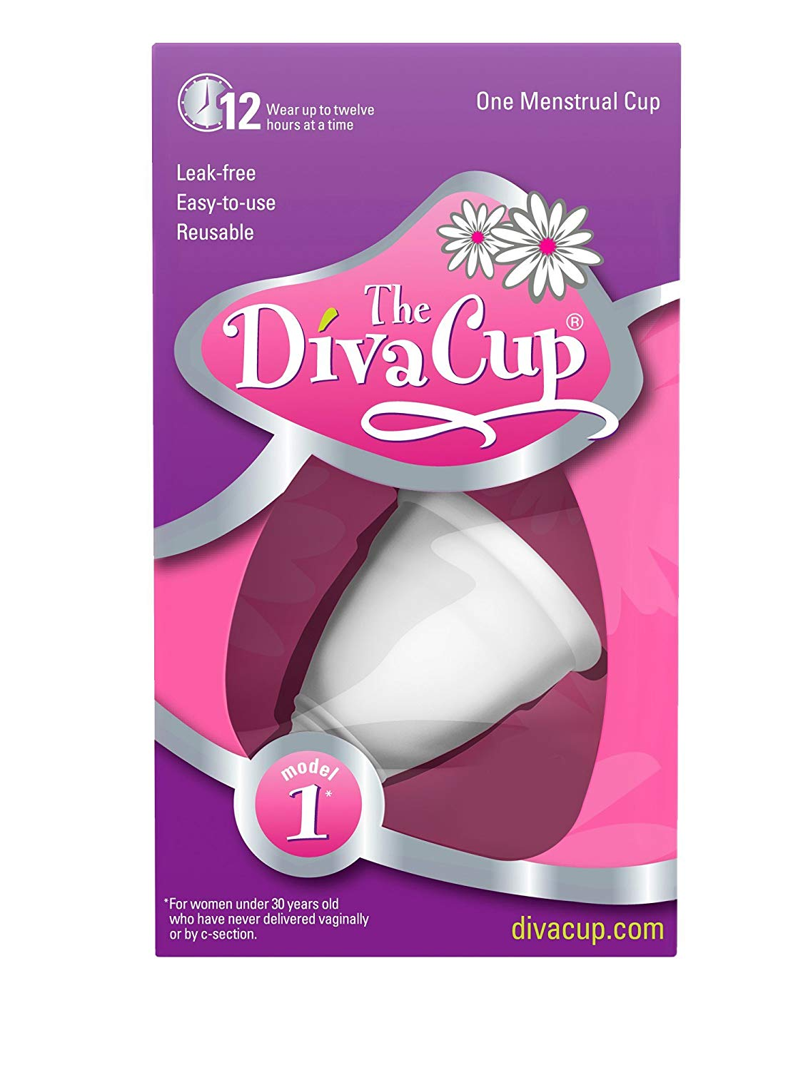 DivaCup Model 1 Menstrual Cup from Amazon