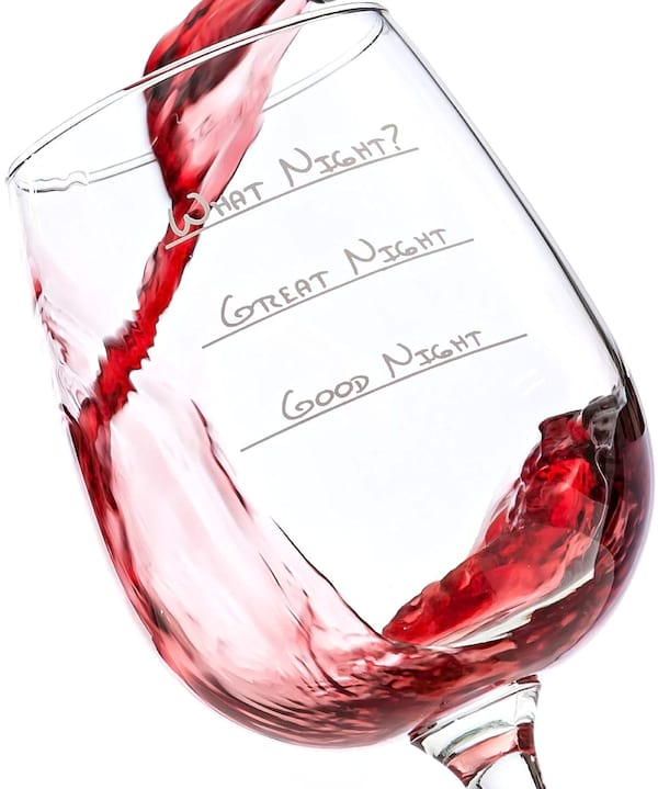 Funny wine glass from Amazon