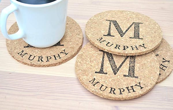 Personalized coasters from Amazon