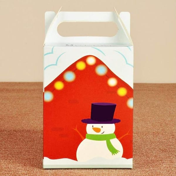 Set of six cheerful snowman gift boxes from Amazon