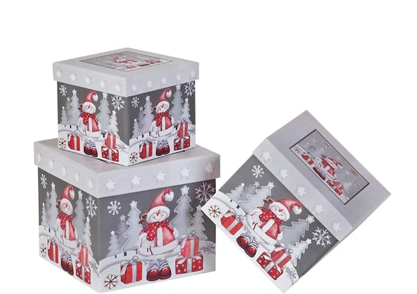 Snowman nesting gift boxes from Amazon