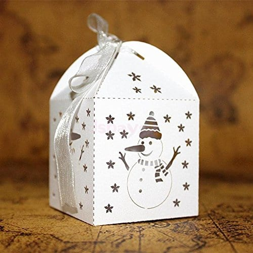Cut out snowman gift boxes from Amazon