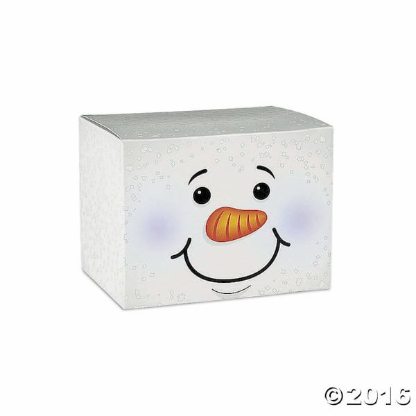 Fun Express holiday snowman gift boxes from Amazon