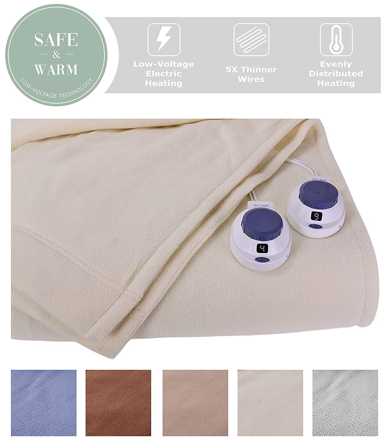 SoftHeat electric blanket from Amazon