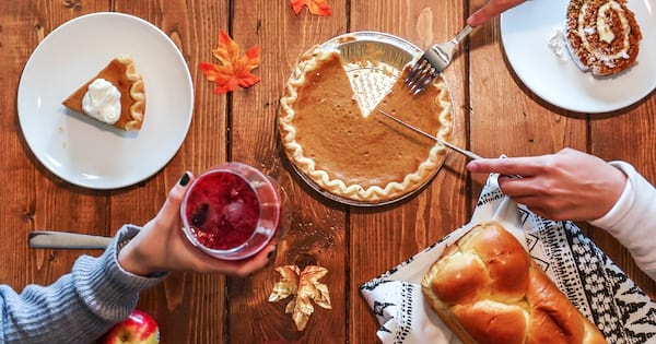 Food Coma Instagram Captions, photo of a Thanksgiving dinner, food & drinks