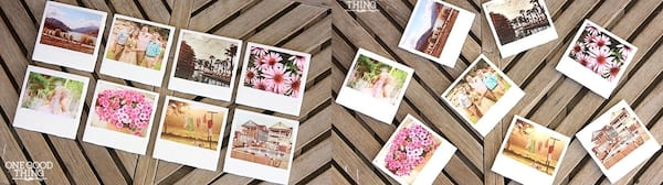 Best DIY Projects For Holiday Gifts, two photos of diy Polaroid coasters, relationships, family