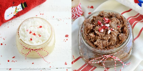 Best DIY Holiday Gifts, two jars of peppermint vanilla sugar scrub, family, relationships