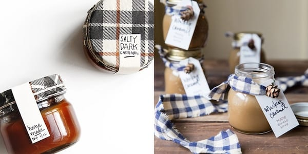Best DIY Holiday Gifts, jars of salty dark caramel and whiskey caramel, family, relationships
