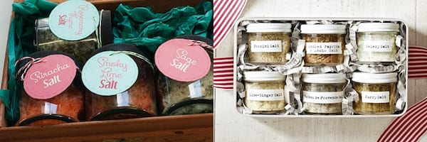 Best DIY Holiday Gifts, gift boxes of infused and seasoned salts, family, relationships