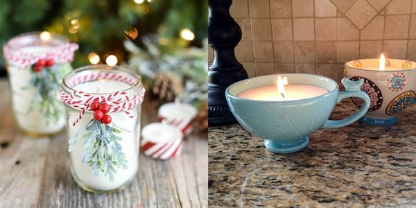 Best DIY Holiday Gifts, two DIY candle gifts, fashion, relationships