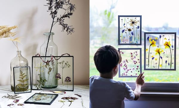 family, relationships, two photos of framed pressed flowers, Best DIY Holiday Gifts