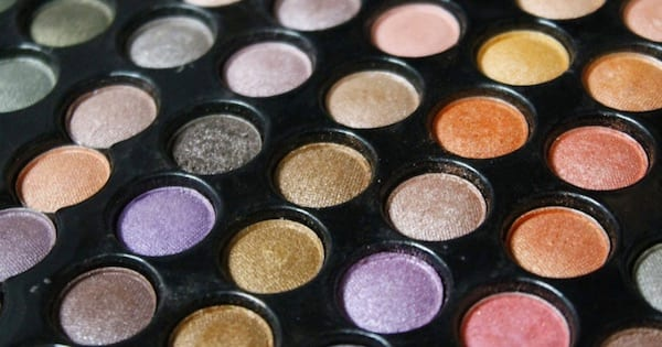 eyeshadow palette with colorful shades