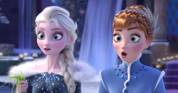 elsa and anna looking shocked