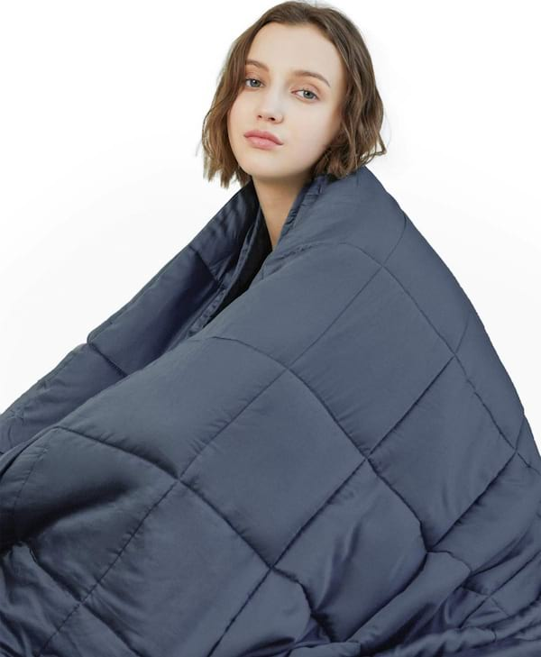 Weighted blanket for someone with seasonal affective disorder from Amazon