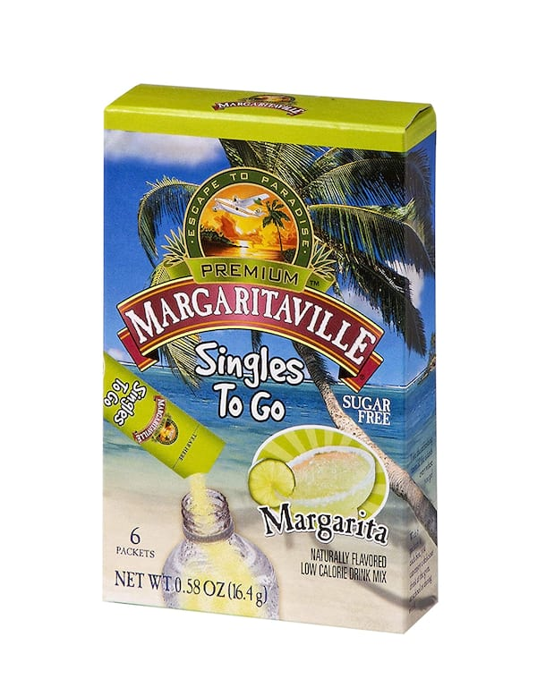 Margaritaville singles-to-go water drink mix