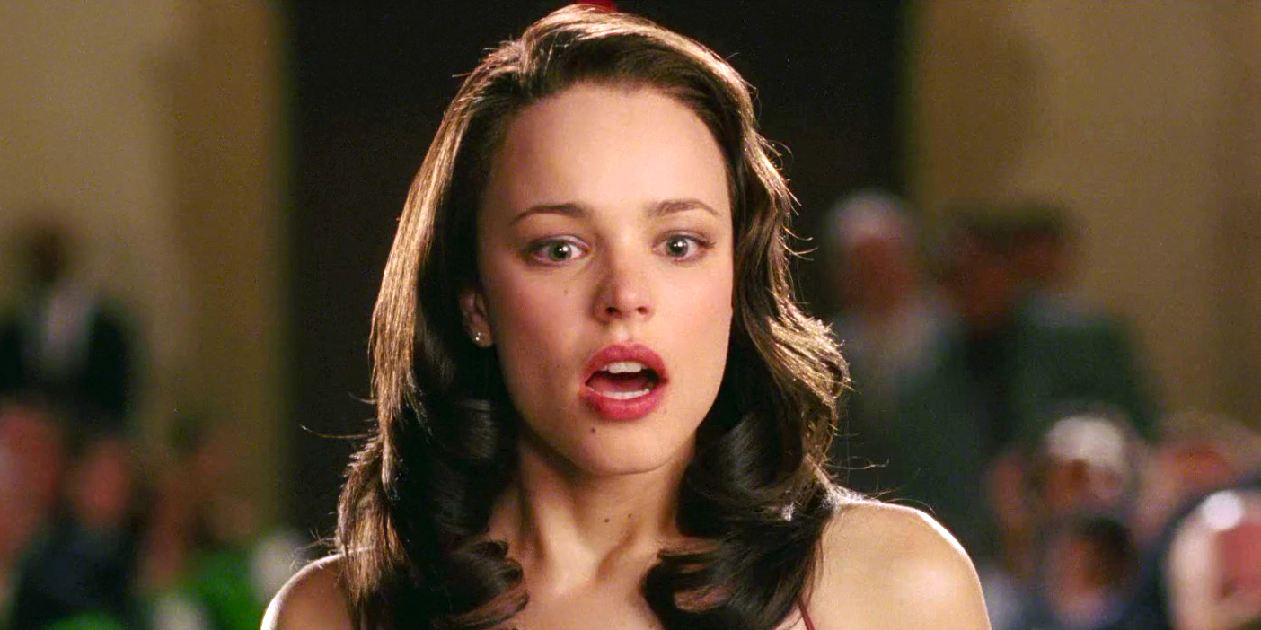 hero, brunette, liz, emotion, shocked, surprised, Wedding Crashers, rachel mcadams, movies/tv