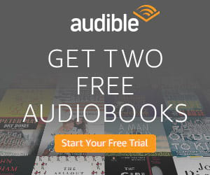 Audible book trial banner on Amazon