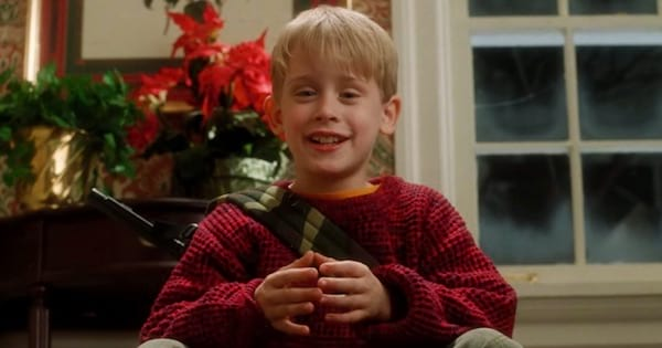 kevin mccallister surprised on home alone, christmas movie