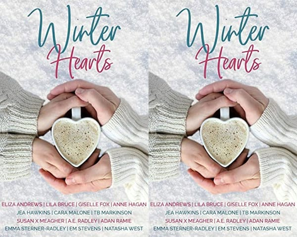 books, Cover of the short story book Winter Hearts, Holiday Books For Bi and Lesbian Romantics