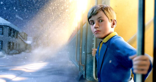young animated boy on polar express train, Christmas Movies